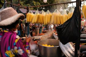 Cambodian street food from a local vendor - the country jumper