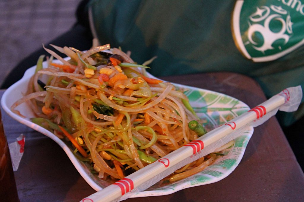 Papaya Salad from the Street in Cambodia