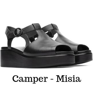 black camper sandals