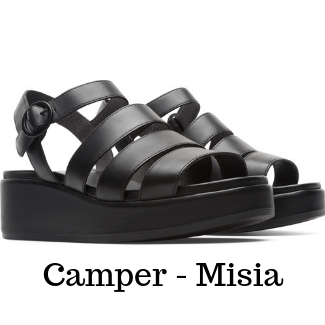 camper black open sandals