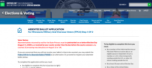 OFFICE OF THE MINNESOTA SECRETARY OF STATE STEVE SIMON screenshot overseas and military voters