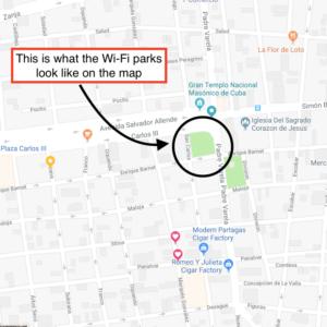 Wi-Fi Park Map