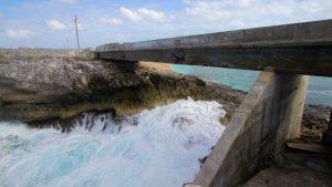 Glass window bridge on Eleuthera island the Bahamas