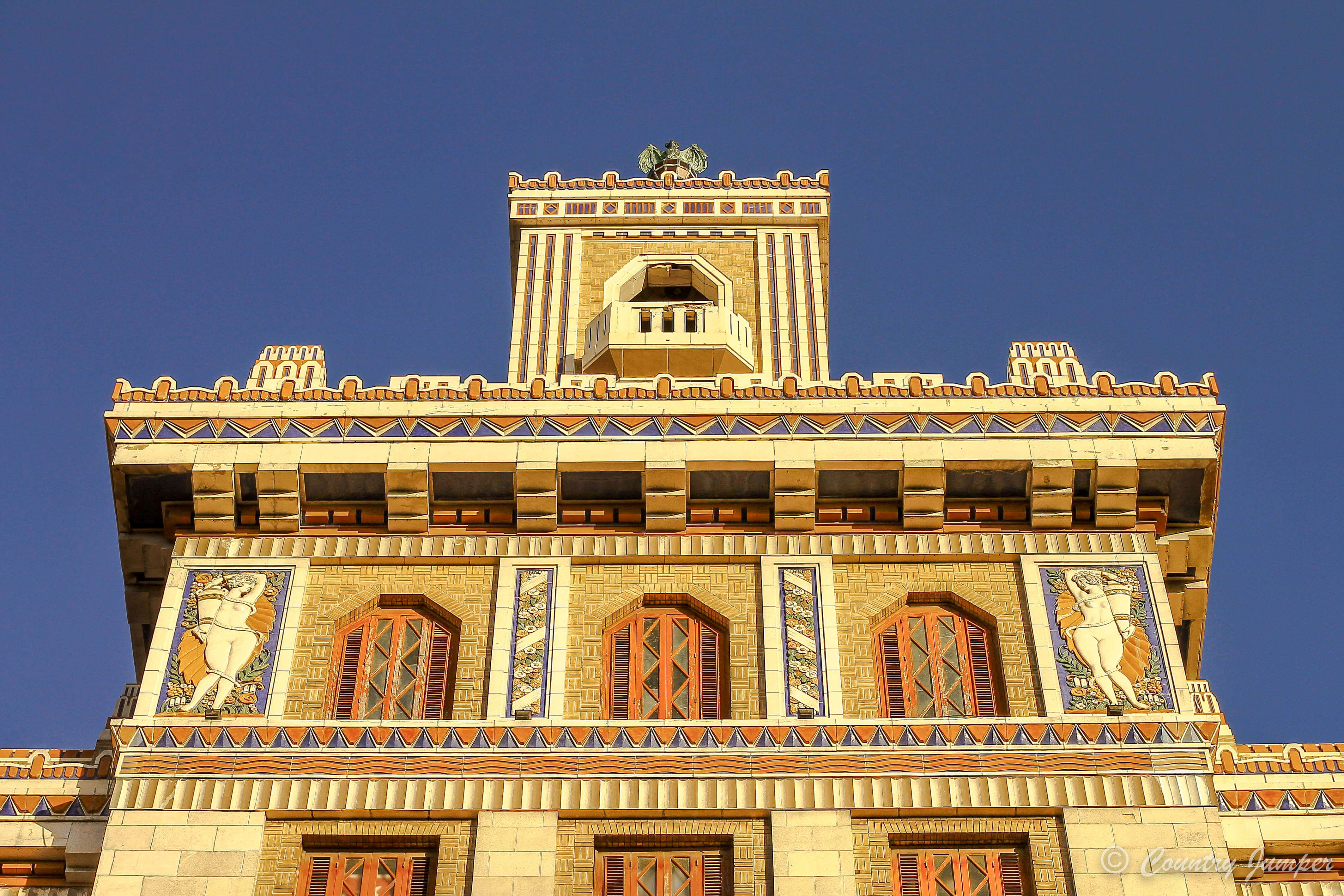 Large ornate building in Havana, The Bacardi Factory