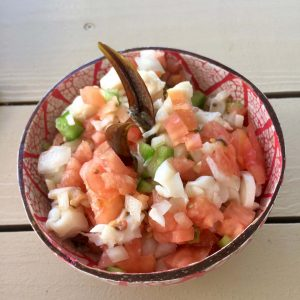 Conch Salad at The Queen Conch on Harbour Island Bahamas