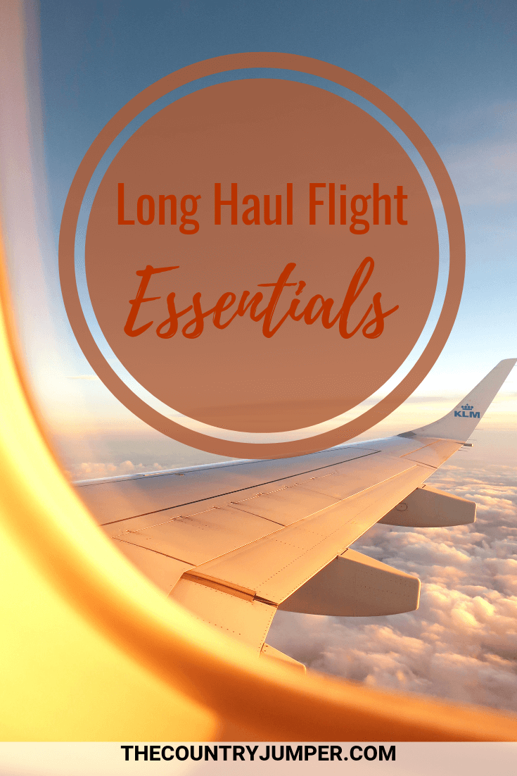 Long haul flights are daunting. But packing the right essentials for a flight is the key to surviving and maybe even enjoying them. Here is what to pack for a long haul flight along with what to do and what to wear on a plane. #travelessentials #longhaul #flights #traveltips