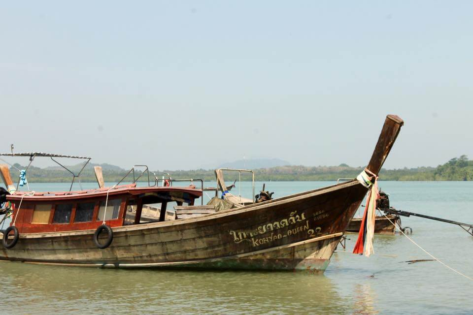 A boat docked in Koh Yao Noi. One of the places to go island hopping in Thailand
