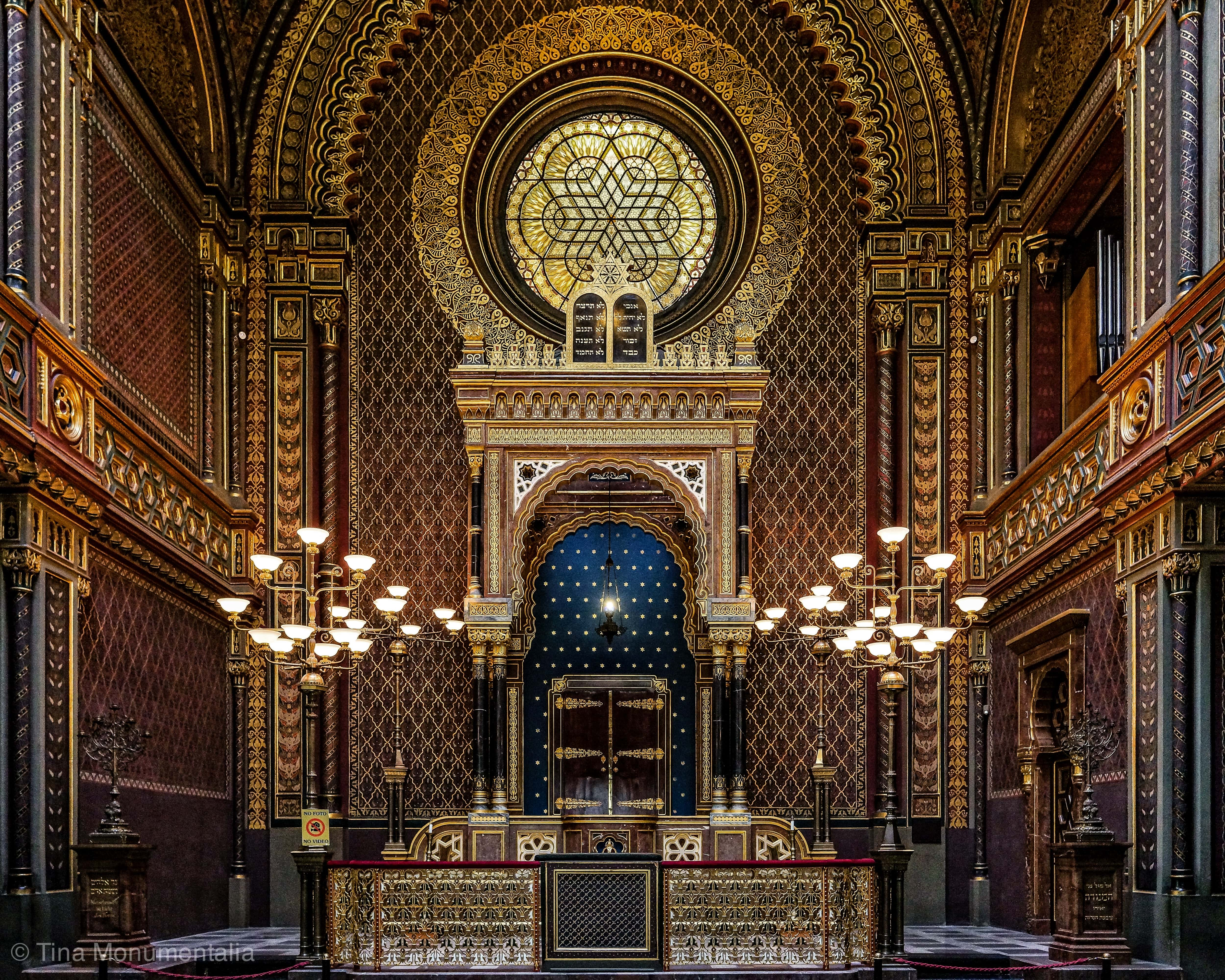 The from of the Spanish synagogue in Prague