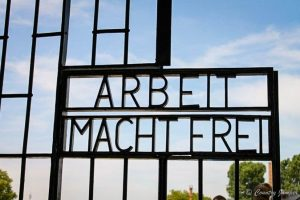 albeit macht frei at sachsenhausen concentration camp in Berlin Germany - The Country Jumper