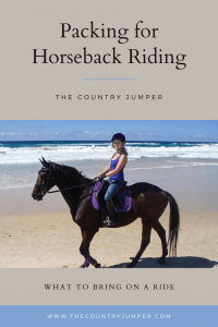 If you are planning on riding horses on your next vacation you want to make sure you have the right horse riding clothes and accessories. Whether you're going for a short trail ride or a multi day trek, learn what to bring for a horse ride. #horsebackriding #packingtips #ridingwhiletraveling