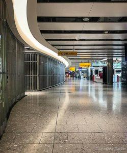 Heathrow terminal 5 empty during lockdown coronavirus pandemic