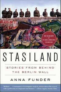 book cover of Stasiland a book by Anna Funder