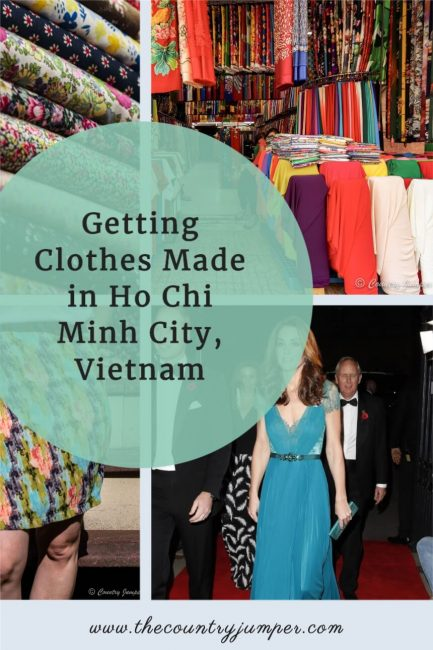 Getting clothes made in Hoi An is an option - but getting clothes made in Ho Chi Minh City is maybe even more fun with a huge fabric market and wonderful tailors!
