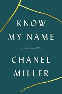 Know My Name book cover - green with yellow lines
