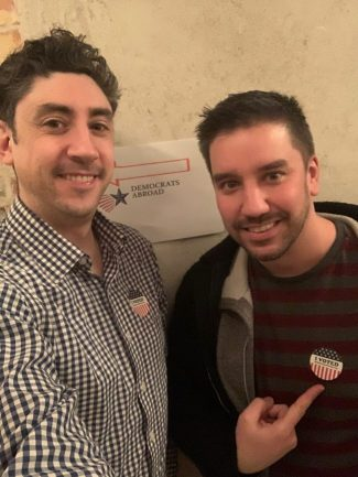 Derek and Mike from Robe Trotting vote as expats abroad