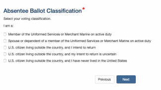 certifying you are an eligible voter when requesting an absentee ballot for overseas